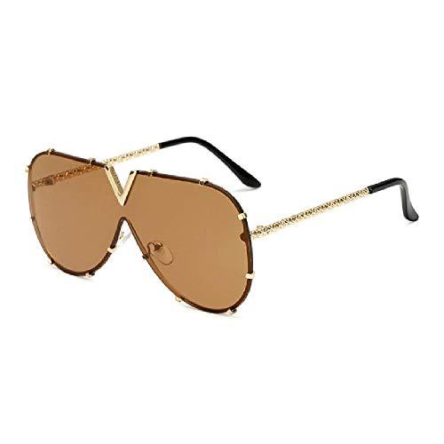 U/A 2Pcs Hombres Gafas De Sol De Gran Tamaño Gafas De Sol Hombres Gafas De Sol Estilo Femenino
