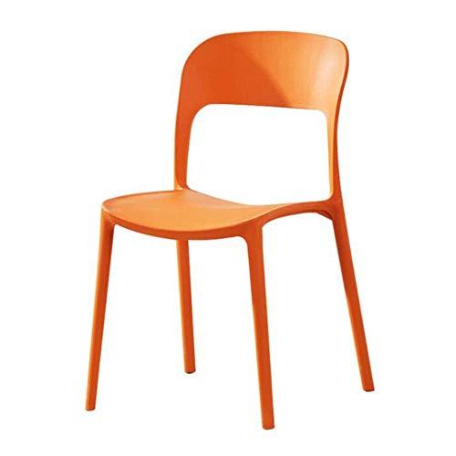 QTQZDD Duurzame plastic tuinstoel Graceful Colors Stapelbare stoel voor buiten, openbaarheid, ontvangst, café, restaurant, kantoor, kamer, eetkamerkruk (kleur: blauw) 1 1