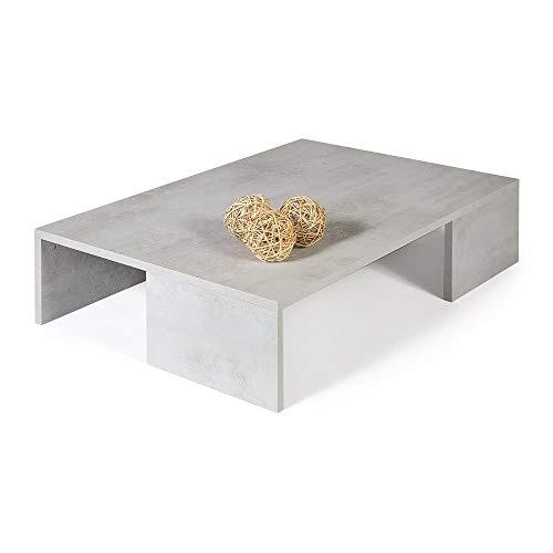 Mobili Fiver, Rachele, Tavolino da Salotto, Cemento, 90 x 60 x 21 cm, Nobilitato, Made in Italy, Disponibile in Vari Colori
