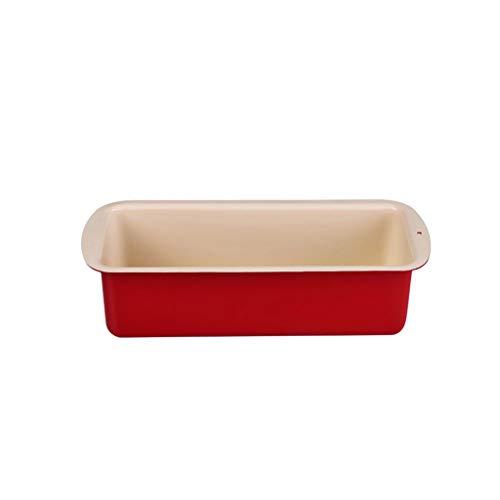 Cuisson au four rectangulaire de plats de cuisson de plat de cuisson de pain de pain antiadhésif sans couture d'acier au carbone, rouge