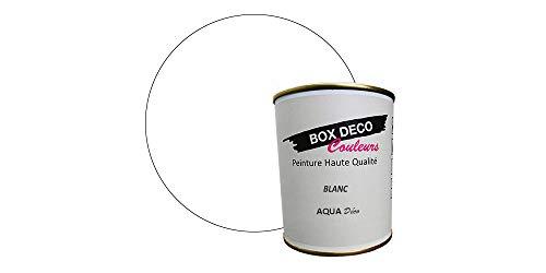 Peinture acrylique aspect velours Aqua déco - Murale - 44 couleurs - 0,7 L - 7,5 m² (Blanc)