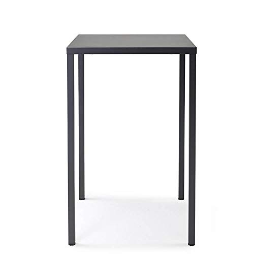 Set 2 Scab Design Summer table haute 110 cm 70 x 70 cm anthracite