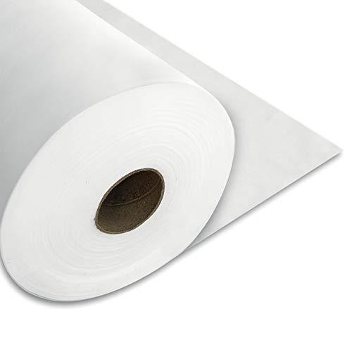 50 Metros de Tejido no tejido 50gr./m2, Tejido sin tejer, TST, TNT Blanco por metros. Material muy utilizado para fabricar mascarillas (50 metros lineales)