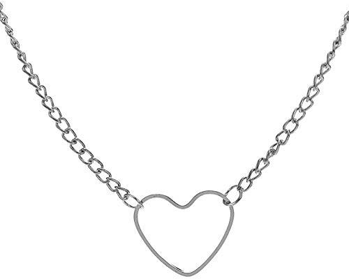 AOAOTOTQ Co.,ltd Halskette Herzförmige Anhänger Halskette Kristall Halskette Frauen Holiday Beach Einzigartige Schmuckkette Halskette