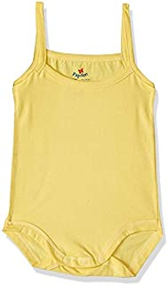 Papillon Cotton Spaghetti-Strap Snap-Closure Basic Bodysuit for Girls