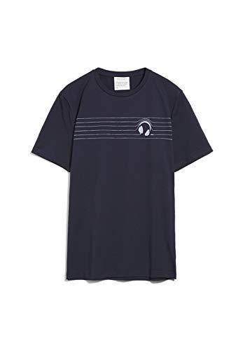 ARMEDANGELS JAAMES Headphones - Herren T-Shirt aus Bio-Baumwolle S Navy Shirts T-Shirt Regular fit