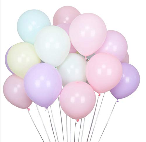 100Pcs Pastel Latex Balloons 12 Inch Assorted Rainbow Candy Colored Party Balloons for Girls Wedding Birthday Party Baby Shower Party Supplies