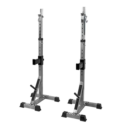 Valor Fitness BD-8 Independent Squat Stand Towers with Adjustable Uprights, J-Hooks, and Safety Catches