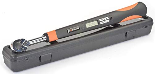 """JEGS Digital Torque Wrench   1/2 """" Drive   Backlit LED Digital Display   Audible Buzzer   Auto Power Off   3 Selectable Ranges"""