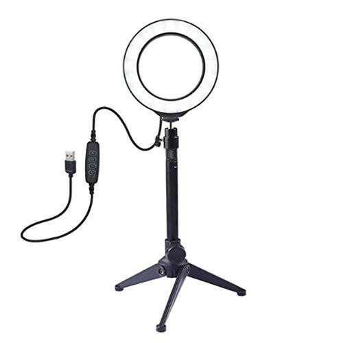 WYHM Escritorio Anillo de Luz Anillo de Luz Autofoto con Trípode USB Selfie Anillo de Luz de la Lámpara de Big Fotografía Ringlight for la Transmisión en Vivo/Maquillaje/Fotografía Universal