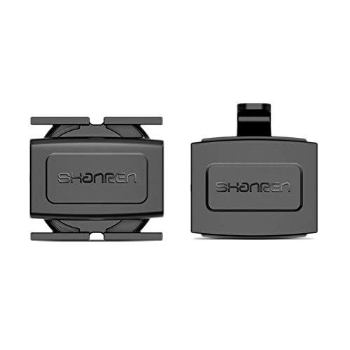 Sensor de Velocidad y cadencia de Bicicleta SHANREN, Bluetooth inalámbrico geomagnético y Modos duales Ant + para computadoras de Bicicleta e iOS/Android