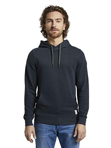TOM TAILOR Herren Strick & Sweatshirts Basic Hoodie Sky Captain Blue,XXXL
