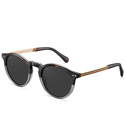 Carfia Vintage Polarizadas Gafas de Sol Mujer Hombre UV400 Protección para Viajes Conducir