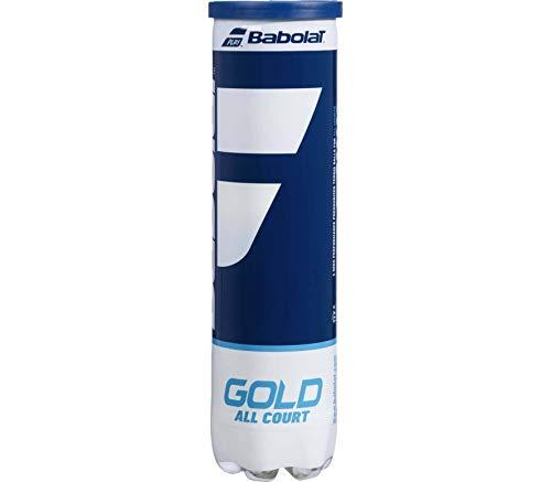 Babolat Gold All Court X4 Palline, Adulti Unisex, Giallo (Nero), Taglia Unica