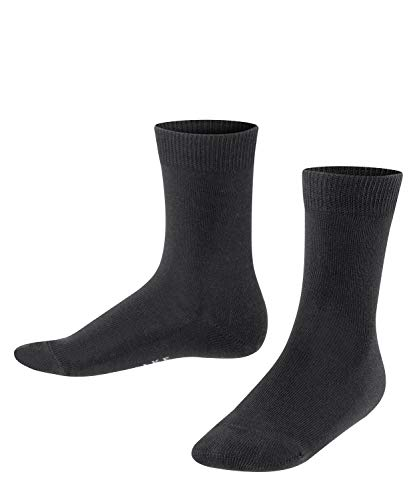 FALKE Unisex Kinder Family K SO Socken, Schwarz (Black 3000), 35-38 (9-12 Jahre)