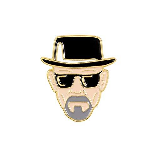 Pin de esmalte Killer Badge Motosierra Daga Cuchillo Despiadado Hombre Broche Colección Cartoon Cool Badge Regalo Pin