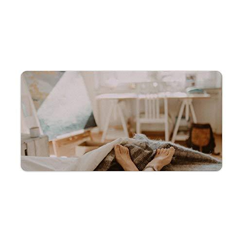 Mauspad,Tastatur Mauspad,Schreibtischpad Schlafzimmermöbel Strukturierte Oberfläche mit rutschfester Gummibasis,Wasserdichter Schreibtisch-Schreibblock für Büro und Zuhause. 30x60cm