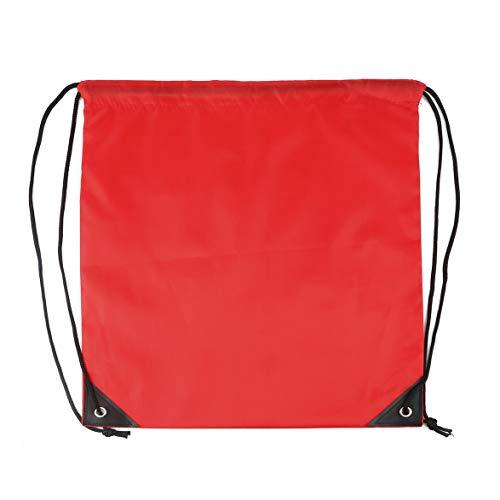 yaoyan Kordelzug Typ 210D Polyester Sporttaschen Für Kinder Jungen Mädchen wasserdichte Schultasche Reisetasche Rucksack Gym Swim Dance - Rot