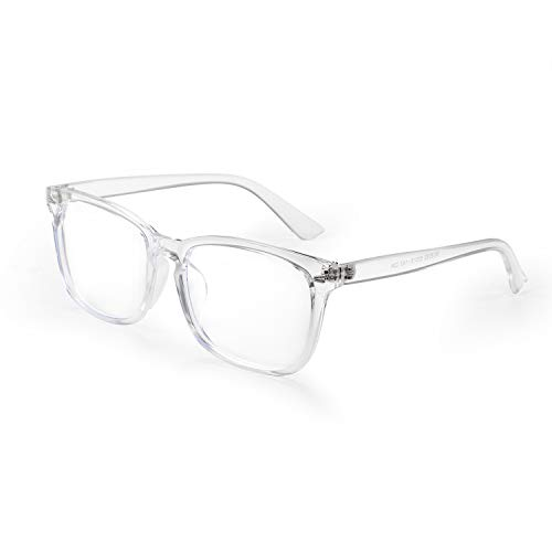 Aroncent Gafas Ópticas Lentes Transparentes Marco de PC Resistente a Luz Azul UV400 Radiación Protector Ojos Ocular Retro Regalo Chulo para Hombre Mujer Unisex, Negro Blanco Leopardo