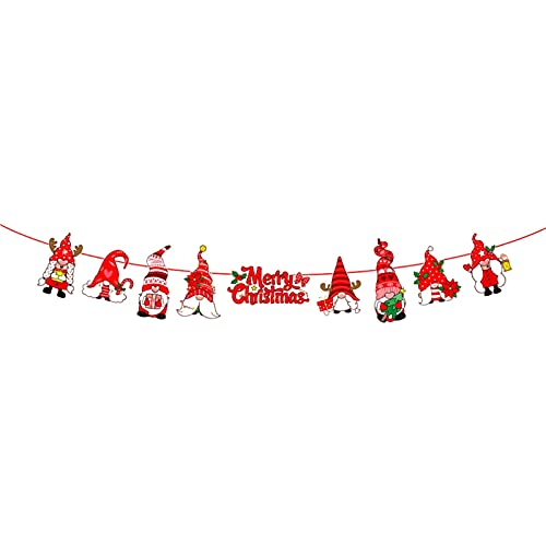 Weihnachtsbanner Merry Christmas HäNgende Flagge, Weihnachten Briefe Banner FüR TüR-Wand-Fenster Home Innen- Und AußEn Neues Jahr Party Dekoration Kamindekoration
