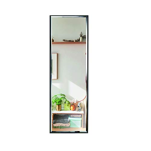 14x48 Inch Full Length Mirror Wall Mounted, Large Body Mirror with Rectangular Framed for Bedroom Bathroom Living Room Decor, Black