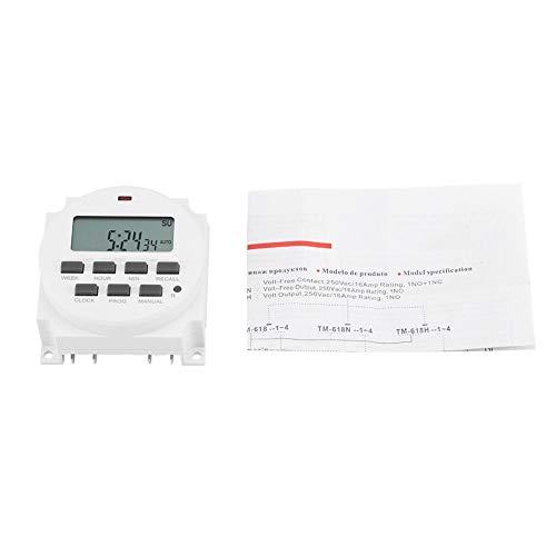 Temporizador - Temporizador de interruptor de control inteligente programable duradero eléctrico digital...