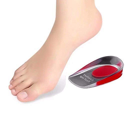 Gel Einlegesohlen Einlagen Fersensporn Fersenkissen Diabetiker Fersenpolster Orthopädisch Schuheinlage Fußbett (Rot, 36-40) (Blau 41-46) … (Rot, 36-40)