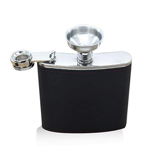 YAOJII 6 oz RVS Hip Flask Flagon Liquor Whiskey Wijnpot Lederen Cover Fles Reizen Tour Barware