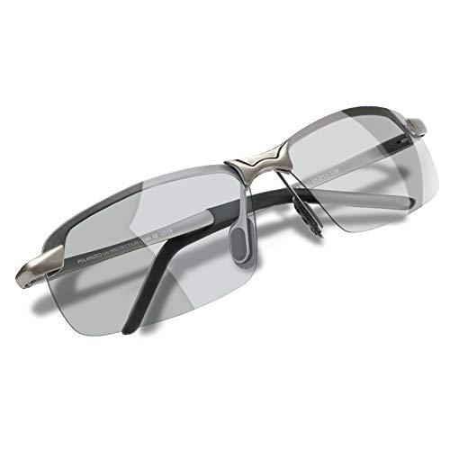 WHCREAT Gafas De Sol Polarizadas Fotocromáticas Para Hombre Para Conducir Deporte Al Aire Libre con Bastidor AL-MG Ultraligero