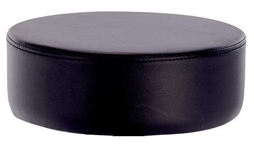 1stuff® Sitzkissen SEETY Sitzerhöhung Sitzpolster Bodenkissen für Kinder, Kissen für Meditation Yoga - ca. 35x35x11cm (Lederimitat schwarz)