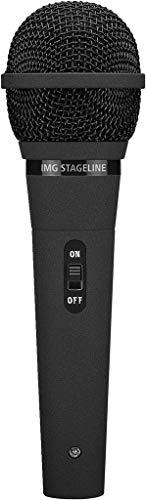 IMG Stageline DM-2100 dynamische microfoon voor spraak, disco en standaardtoepassingen, zwart