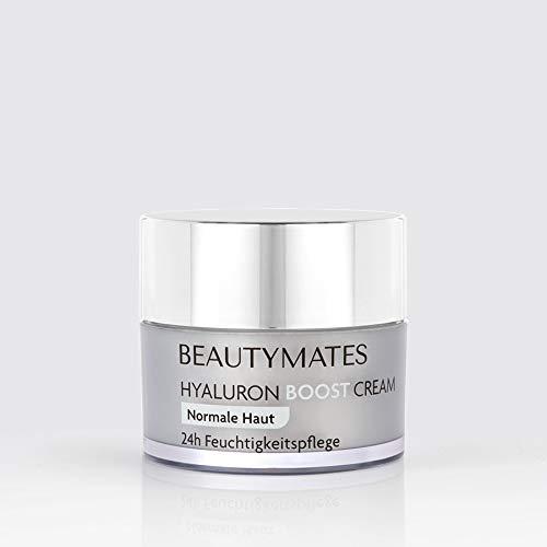 NEU! BEAUTYMATES Hyaluron Boost Cream 24h Gesichtspflege mit patentiertem Hyaluronsäure Komplex - 50ml - vegan & hochkonzentriert