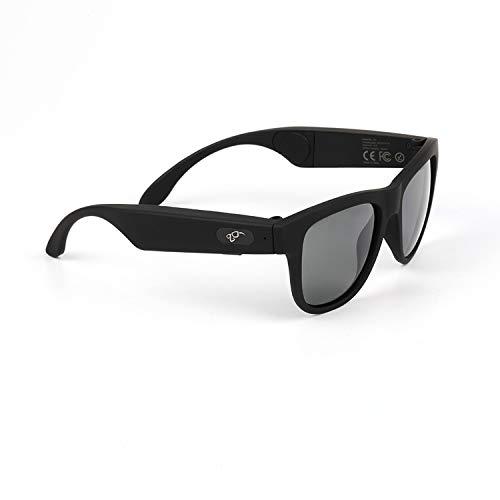 Bone Conduction Bluetooth Glasses Wireless Bluetooth Headphones Sunglasses sweatproof Waterproof Sports Headset iOS Android (Black)