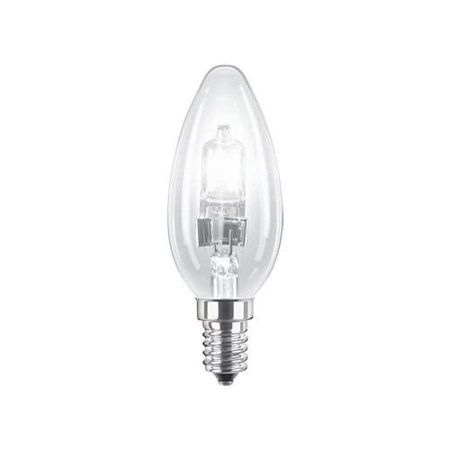 10 x 18w E14 Energy Saving Halogen Dimmable Clear Candles E14//SES//Small Edison