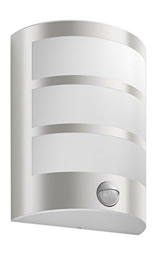 Philips luminaire extérieur LED applique murale avec détection Python inox lumière blanc chaud