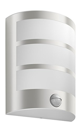 Philips myGarden LED Wandaussenleuchte Python, Bewegungsmelder Metall 6 W Edelstahl 173244716