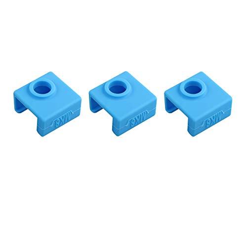 3pcs 3D Drucker Heizblock Silikon Abdeckung Silikon Sock Heizung Isolierung Fall 280°C Hochtemperaturbeständig für MK7 MK8 MK9 Hotend für Ender 3 CR-10 ANET A8 (blau)