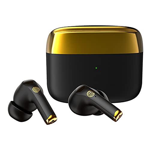 ZJ Auriculares inalámbricos Bluetooth 5.0 Smart Touch TWS Auriculares Deportivos con cancelación de Ruido de Llamadas ENC Auriculares Deportivos Semi-in-Ear(Color:A)