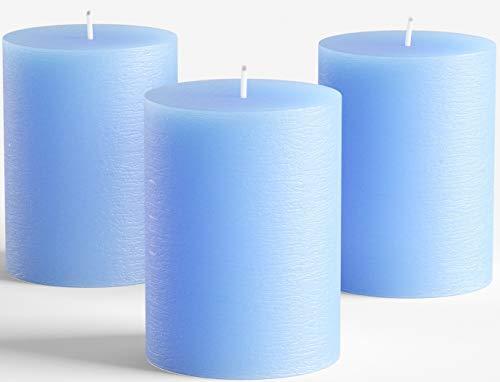 Melt Candle Company - Vela de pilar sin aroma a mano para bodas, decoración del hogar, relajación, spa, mecha de algodón sin humo
