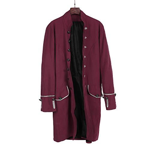 Herren Gothic Mittelalter Sakko Vintage Frack Jacke Retro Victorian Steampunk Coat Uniform Party...