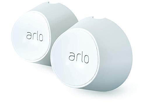 Arlo Accessory - Magnetic Wall Mounts | Set of 2, Indoor/Outdoor, White | Compatible with Arlo Ultra and Arlo PRO 3 Only | (VMA5000)