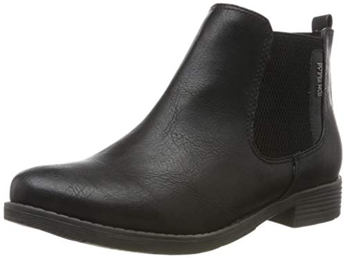 TOM TAILOR Damen 7992103 Stiefeletten, Schwarz (Black 00001), 38 EU