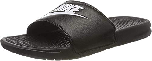 Nike Benassi Just do it Schuhe Herren Badelatschen Slipper Schwarz 343880 090, Größenauswahl:45