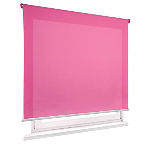 HOME MERCURY - Estor Enrollable translúcido Liso (100x180 cm, Fucsia)