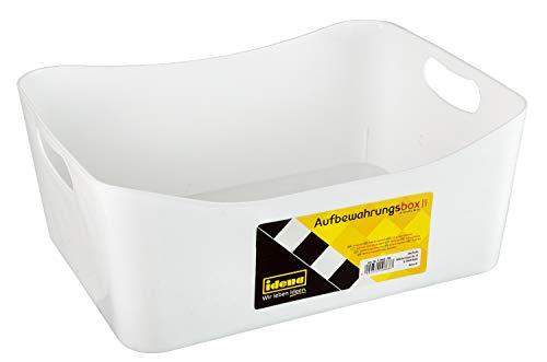 Idena 10868 - Aufbewahrungsbox aus robustem Kunststoff, sorgt für Ordnung zu Hause und auf Arbeit, ca. 32 x 25 x 15 cm, weiß