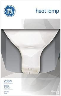 G E Lighting 37770 GE 250W Infrared Heat Reflector Light Bulb (Pack of 6)