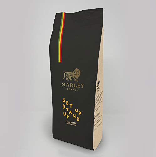 Get Up Stand Up Leicht gerösteter Kaffebohnen Organic Bio, Marley Coffee, aus der Familie von Bob Marley, 1kg kaffe bohnen ganze bohne