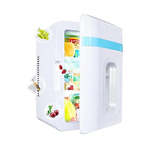 JIAX Refrigerador Portátil De 10 L para Automóvil/Mini Refrigerador para Alimentos, Bebidas, Cuidado De La Piel, Uso En El Hogar, Oficina, Dormitorio, Automóvil, Barco, Enchufes De CA Y CC Incluidos