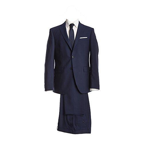 Barutti Anzug Dunkelblau Uni Tailored Fit taillierter Schnitt 100% Pure Wool Schurwolle Super 100S Sakko Tarso AMF Hose Tosco 110