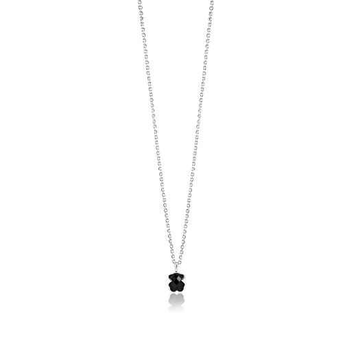 TOUS Color Necklace in Sterling Silver and Onyx.